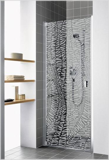 Kermi bietet eine breite Palette an sandgestrahlten Dekoren.