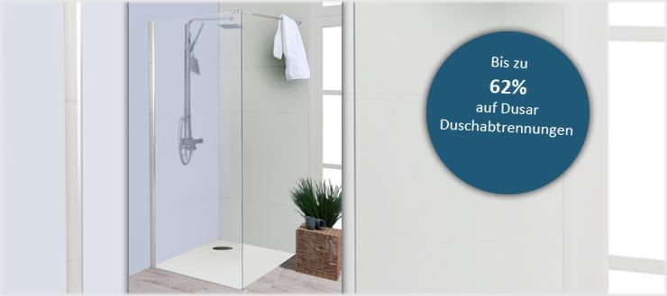 Sparen Sie bares Geld mit Duschabtrennungen von Dusar.