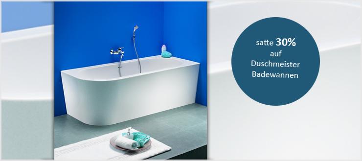Entspannung pur bietet die elegante Badewanne von Duschmeister.