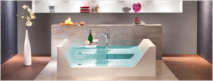 """Mit der Badewanne """"Pure"""" von Ottofond holen Sie sich Luxus in Ihr Badezimmer."""