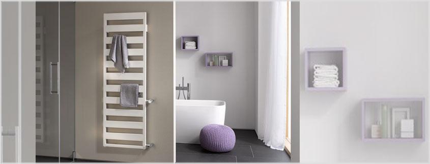 Heizkörper sind längst nicht mehr nur Wärmerzeuger, sondern auch vollwertige Einrichtungsgegenstände für ein modernes Bad, wie der Heizkörper Casteo vom Hersteller Kermi beweist.