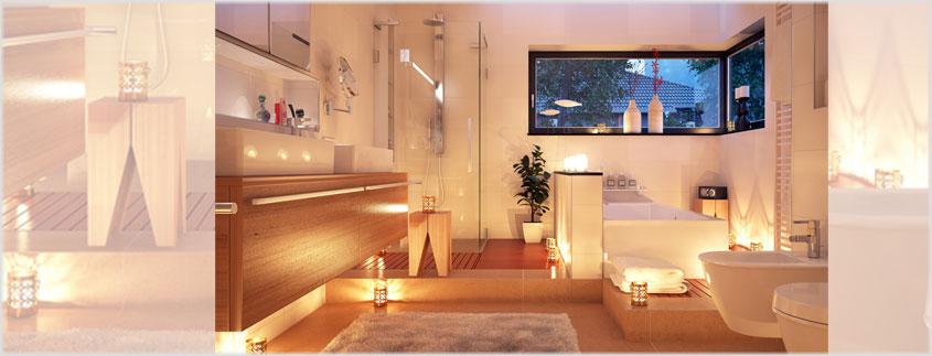 Kerzen erzeugen eine sinnliche Stimmung und können Ihr Wohlbefinden im Badezimmer steigern.