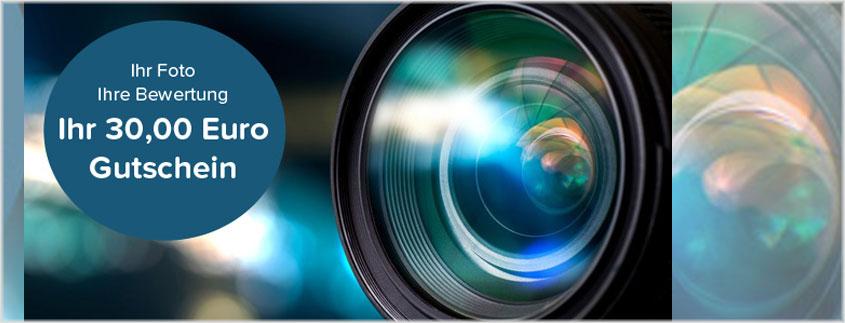 Erhalten Sie einen 30 Euro Shop-Gutschein für Ihr Foto und Ihre Bewertung!