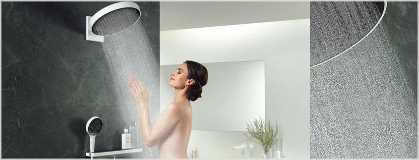 Eine runde Sache: Die Wellness-Dusche Rainfinity