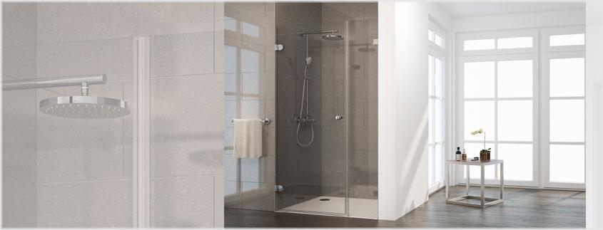 Keine störende Profile: Die rahmenlosen Davita Modelle passen einfach in jedes Bad.