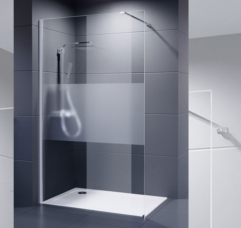 Mit der Palladium Neo Serie lassen sich große Duschbereiche in eleganter und dezenter Optik verwirklichen.