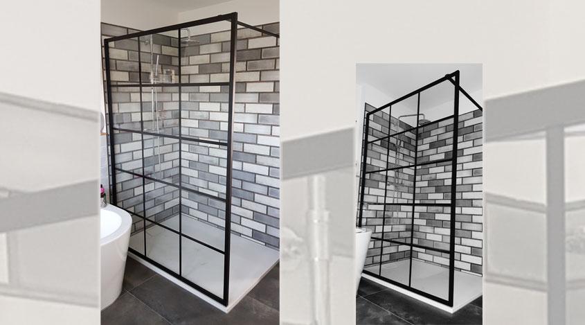 So sieht das neue Bad im Industrial Design von Alexander S. nach dem Umbau aus.