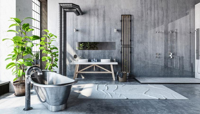Neben den klassischen Fliesen gibt es viele Alternativen als Wandverkleidung im Bad.