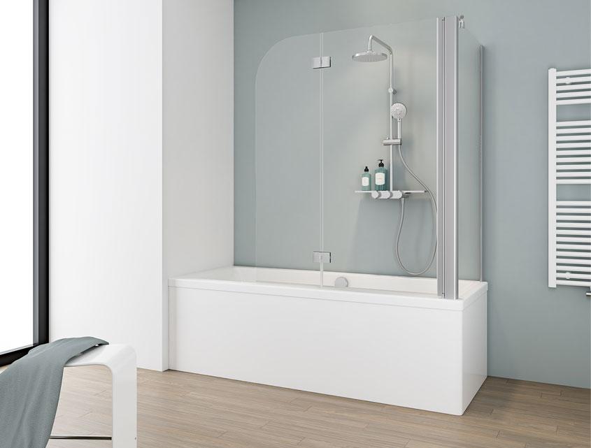 Wer eine Badewanne hat kann ebenfalls komfortabel Duschen. Das geht mit einem passenden Badewannenaufsatz.