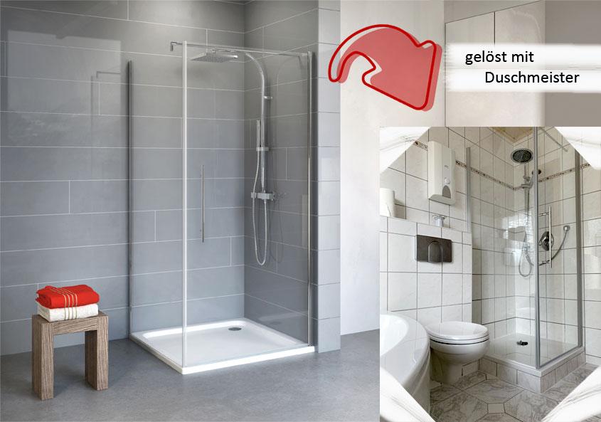 Das Alexa Style 2.0 Duschkabinen-Set mit Duschwanne und Zubehör passt einfach in jedes Bad.