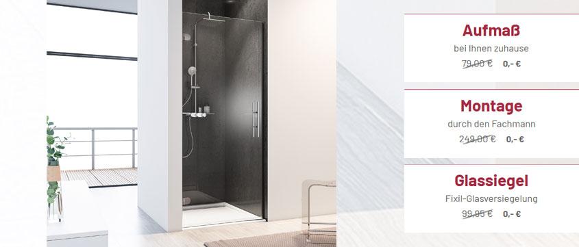 Bei den Davita-Duschen von Schulte ist der Service komplett kostenlos und auch die Glasversieglung schenken wir Ihnen.