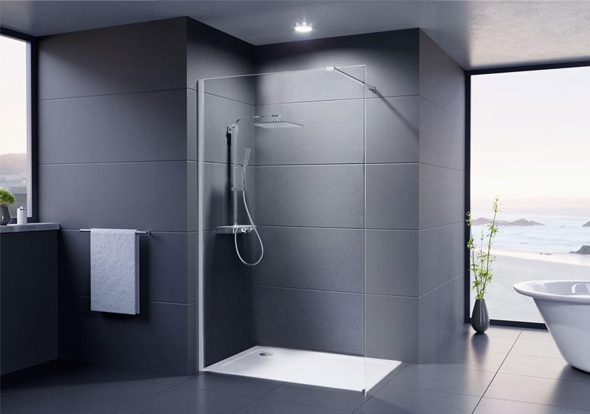 Walk-In-Kabinen bieten einen besonders leichten Einstieg in den Duschbereich.