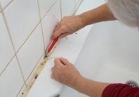 So entfernen Sie die alte Fuge in Ihrer Dusche.