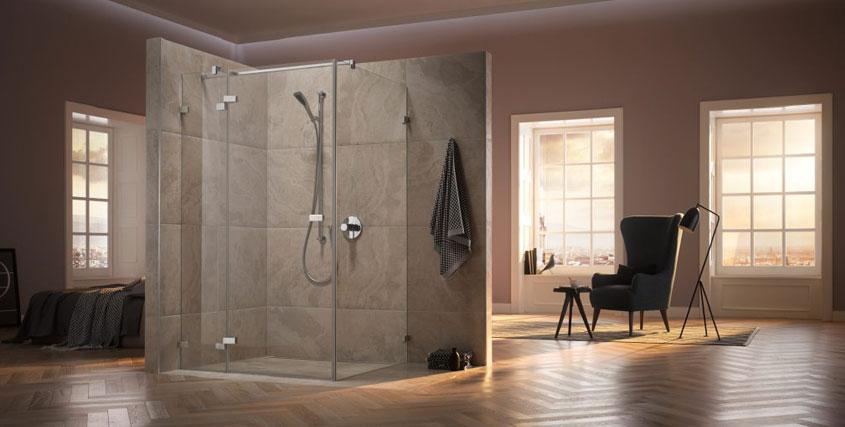 Verschönern Sie Ihr Bad mit einer neuen Duschkabine.