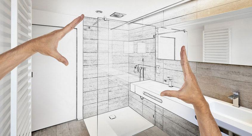 Sie planen, wir setzen um. Mit unserem Aufmaßservice passt die neue Duschabtrennung millimetergenau.