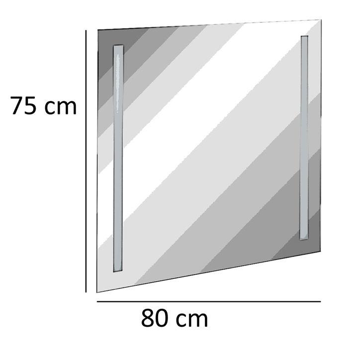 fackelmann spiegel fms led linear light 80 cm fms spiegelelement. Black Bedroom Furniture Sets. Home Design Ideas