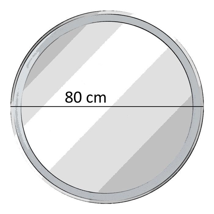 fackelmann spiegel rund mit led beleuchtung 80 cm fms spiegelelement. Black Bedroom Furniture Sets. Home Design Ideas