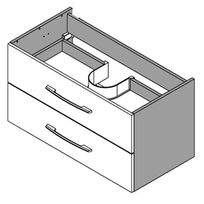 Waschtisch unterschrank unterbau waschbecken design g ste for Waschtisch mit unterschrank 90 cm