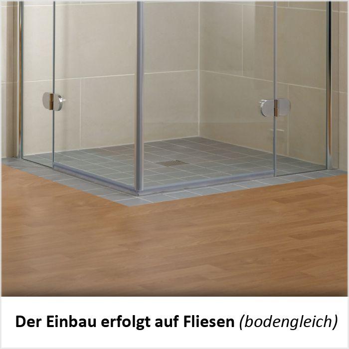 Einbau Dusche schulte duschkabine eckeinstieg 2 teilig mit dekor 1750 mm