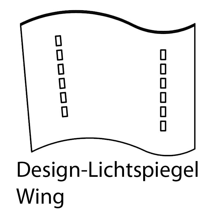 design lichtspiegel wing 8040. Black Bedroom Furniture Sets. Home Design Ideas