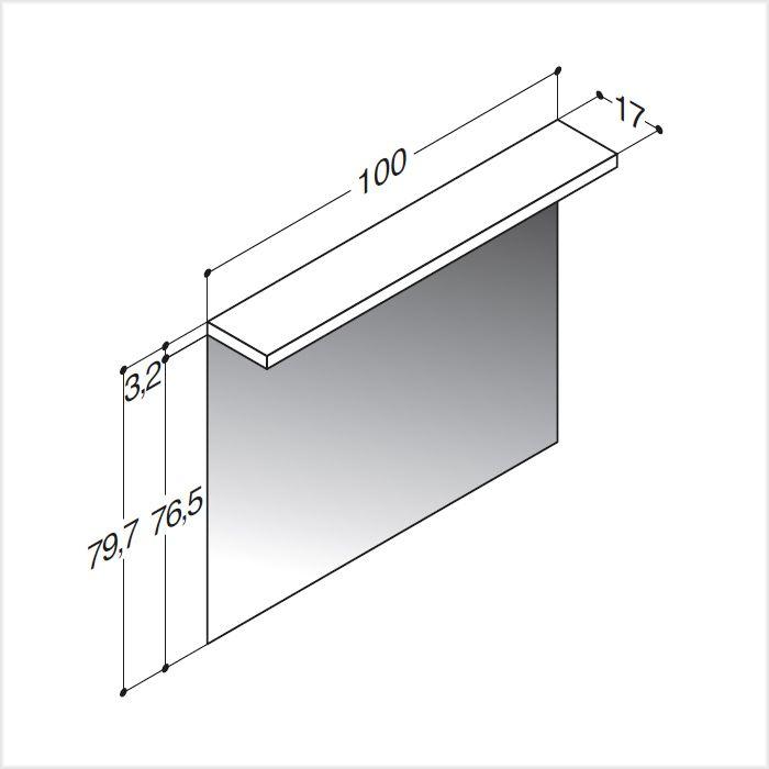 scanbad spiegel mit led lichtpaneel 100 cm spiegel. Black Bedroom Furniture Sets. Home Design Ideas
