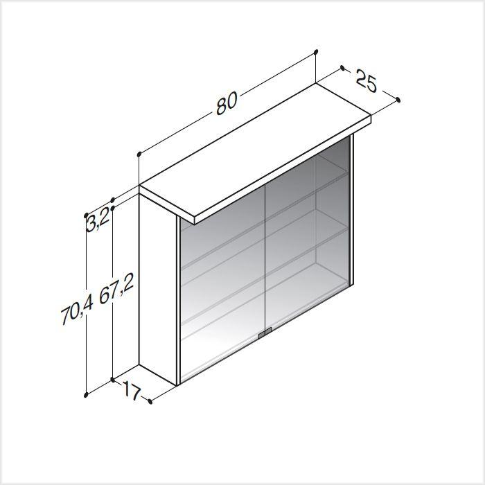 scanbad spiegelschrank fox mit led beleuchtung 80 cm spiegelschrank. Black Bedroom Furniture Sets. Home Design Ideas